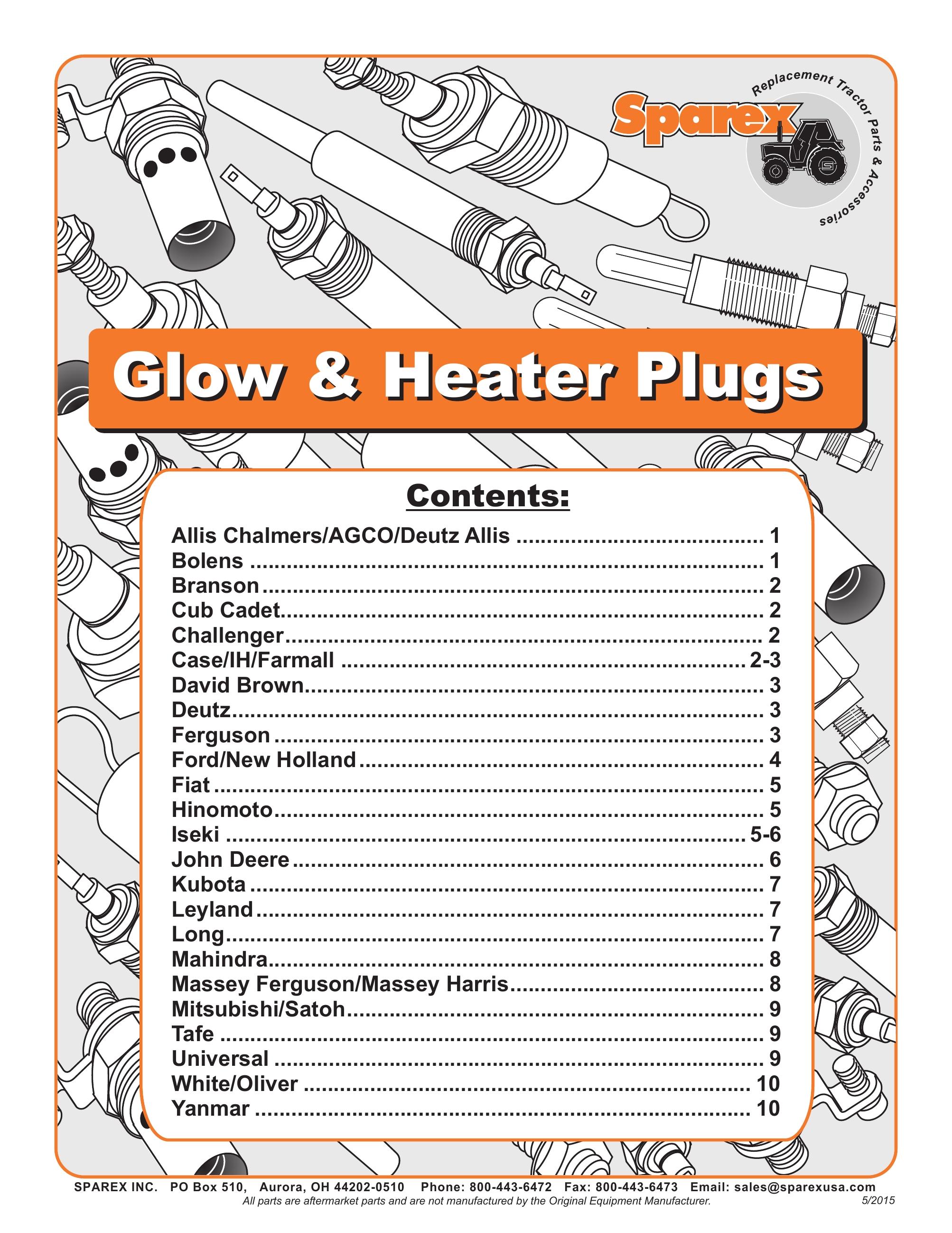 Sparex Catalogs Massey Harris Wiring Diagrams S700387 Glow Heater Plugs